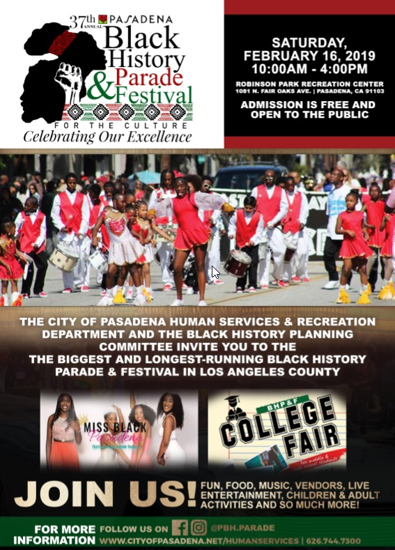 Black History Parade and Festival flyer
