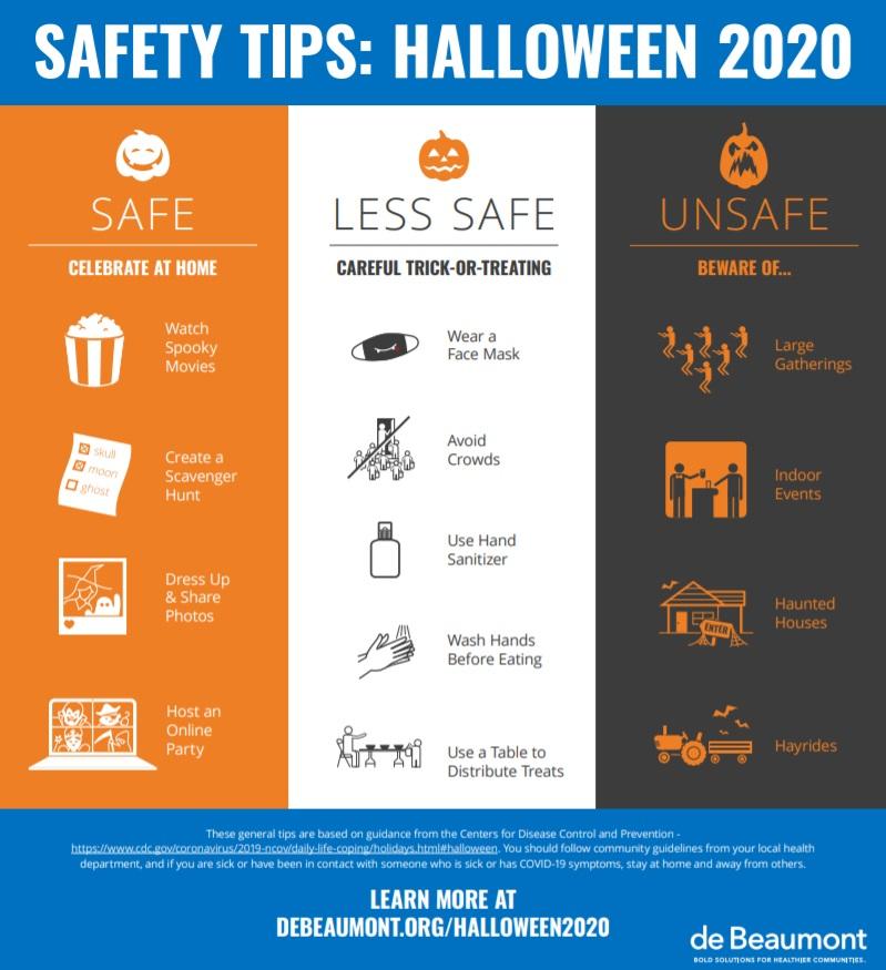 Halloween safety graphic