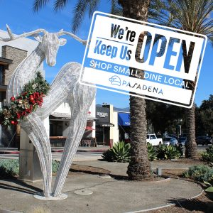 """""""We're open, keep us open"""" holiday graphic"""