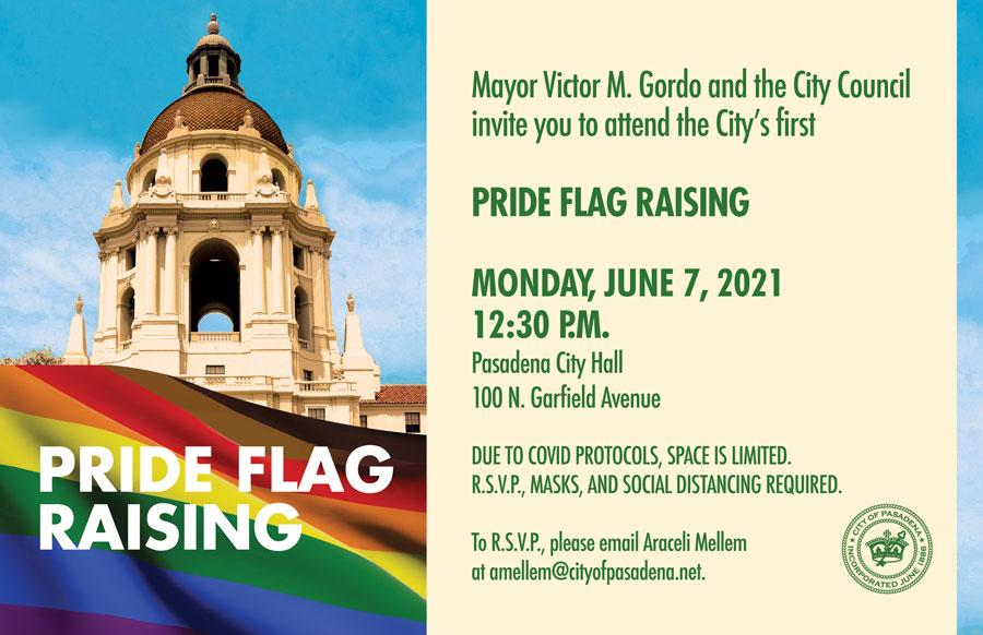 Pride Flag Raising Invite
