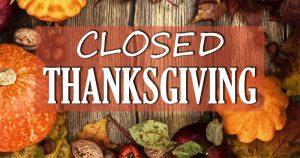 Thanksgiving closure image