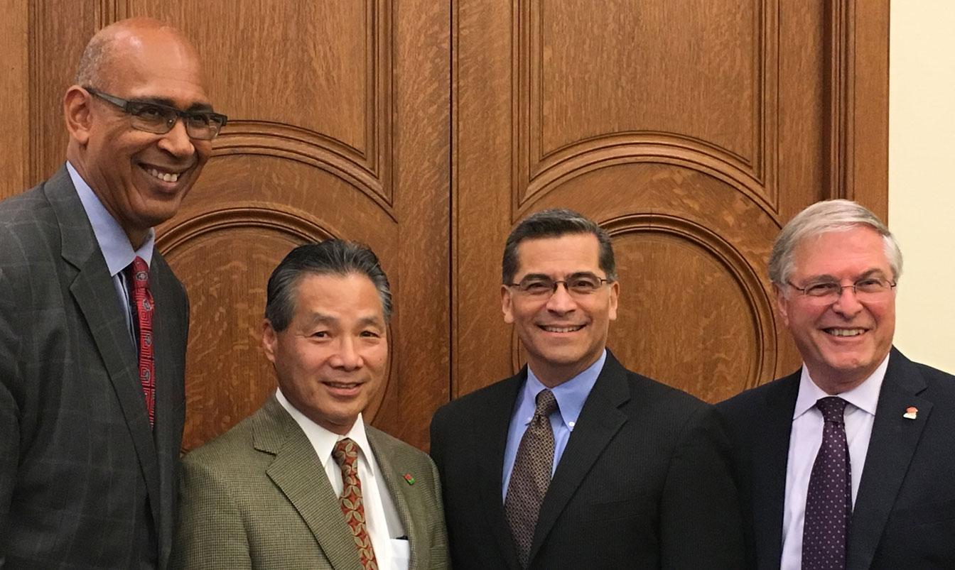 CA State Attorney General Becerra & Councilmember Gene Masuda