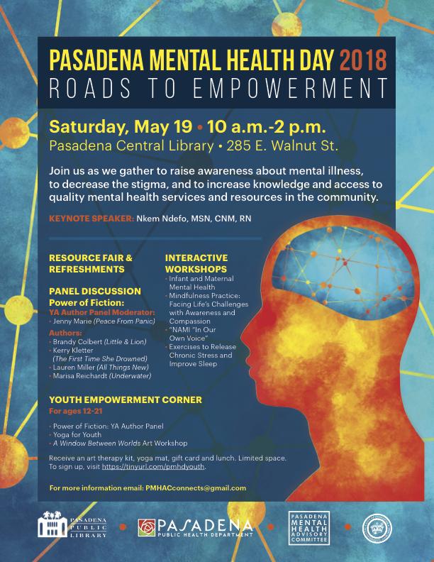 Pasadena Mental Health Day Is Saturday May 19th City Council