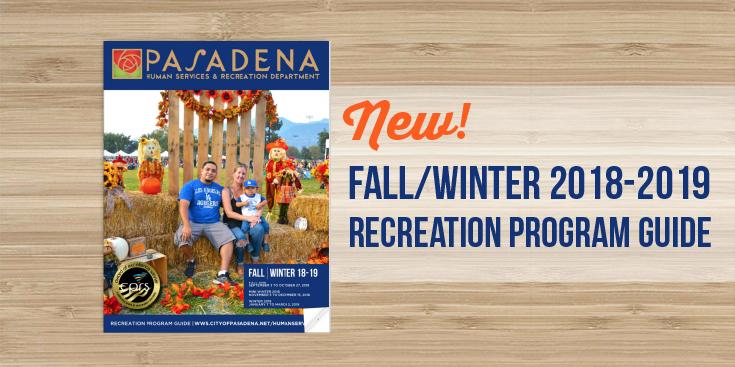 Fall/Winter 2018-2019 Recreation Program Guide