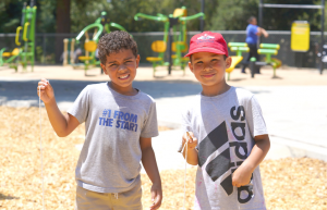 Washington Park Community Day picture of two kids smiling