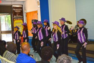 Seniors at a Talent Show tap dancing