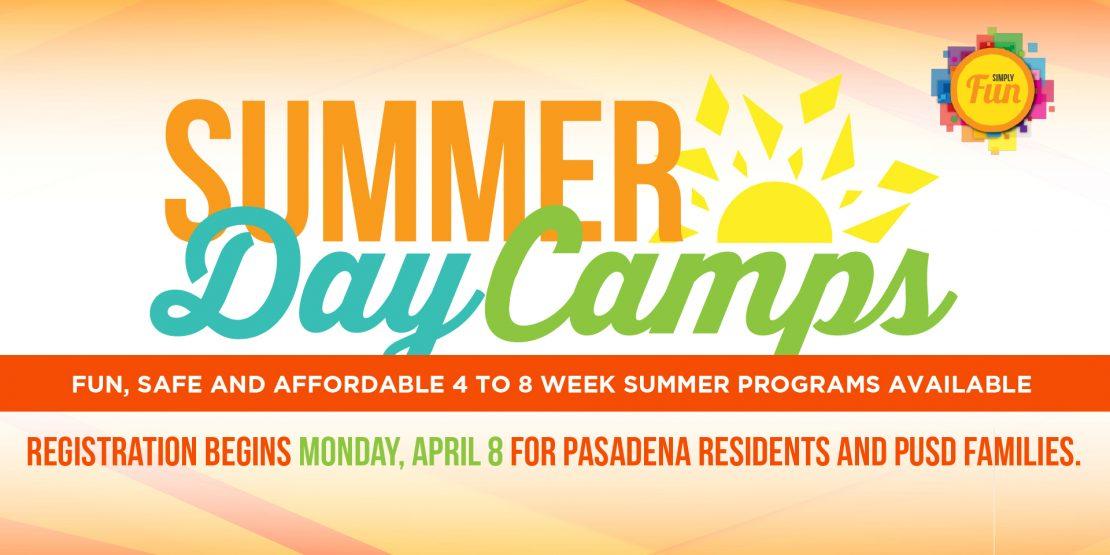 Summer Day Camps – Registration begins April 8