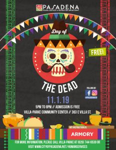 Day of the Dead graphic with black background