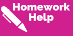 "Image of writing pen with text ""Homework Help"""