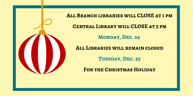 Library Christmas Closure