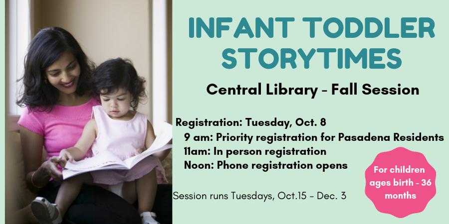 Infant Toddler Storytime Registration