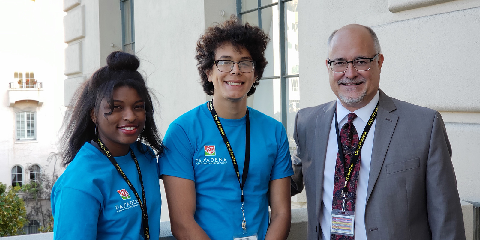 Youth Ambassadors with Director Michael