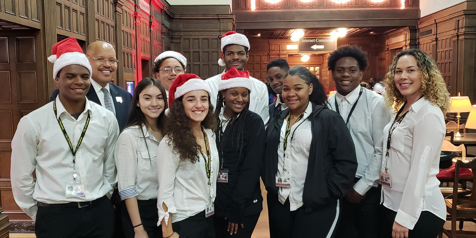 Youth Ambassadors with Vice Mayor Kennedy