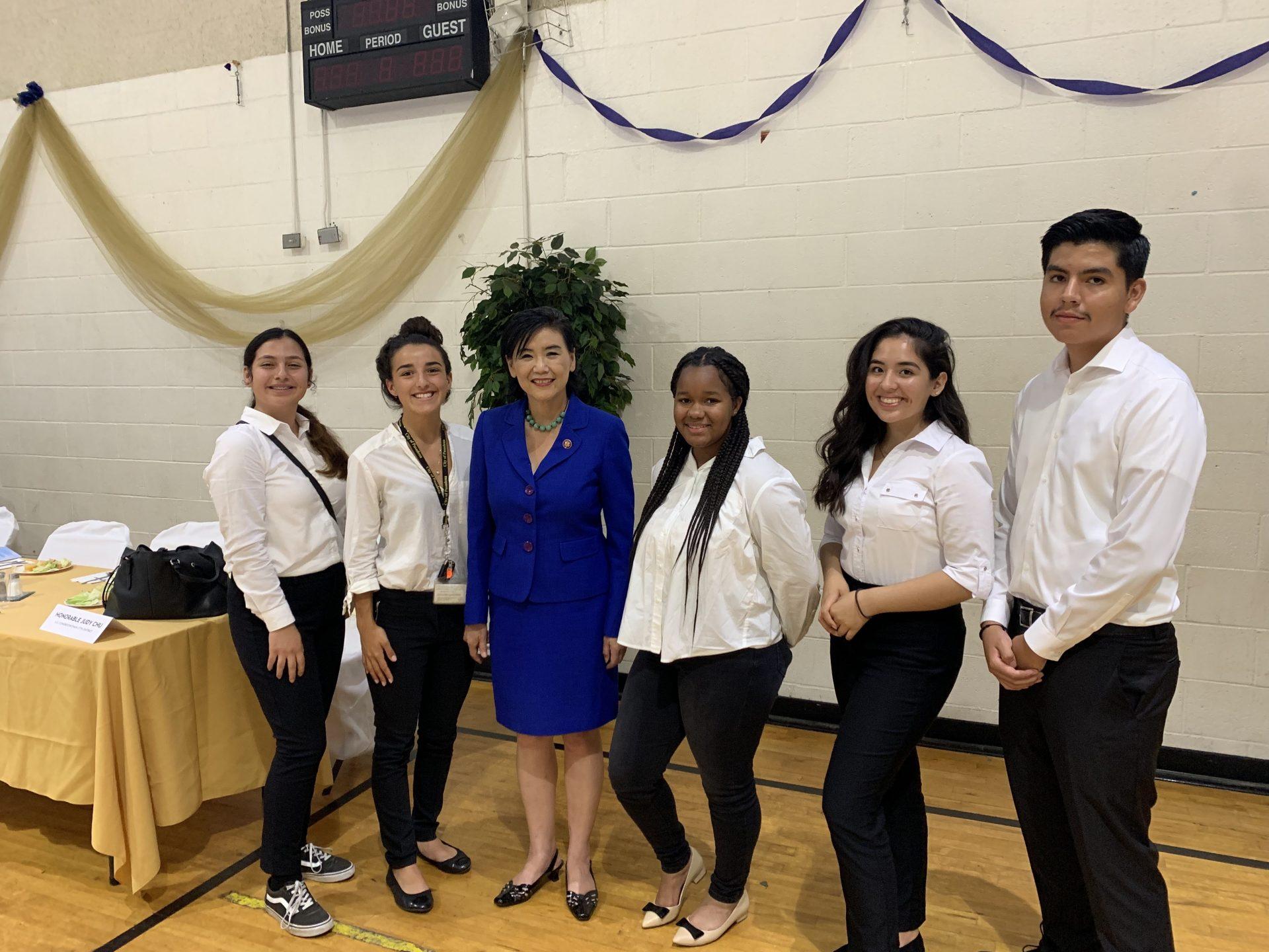 Youth Ambassadors with Congresswoman Judy Chu