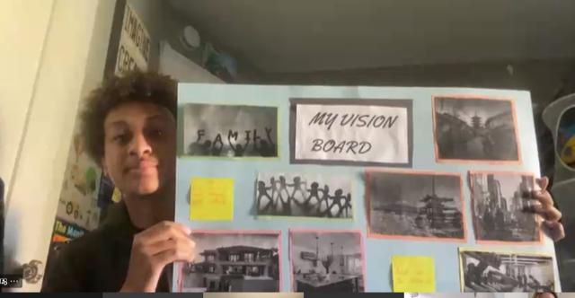 Youth Ambassador Sharing Their Vision Board