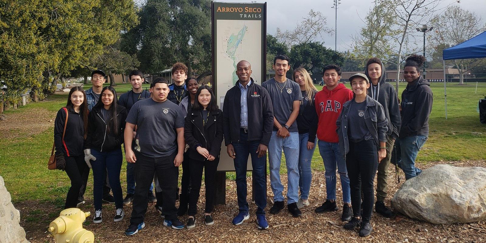 Youth Ambassadors with Council member Hampton