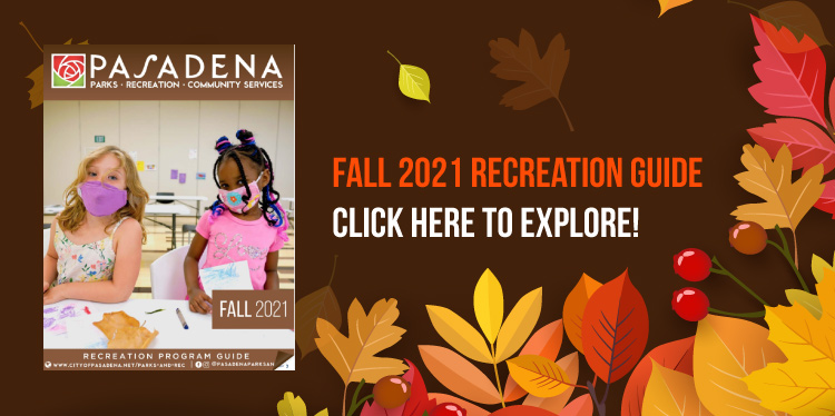 NEW Fall 2021 Recreation Program Guide - Click here!