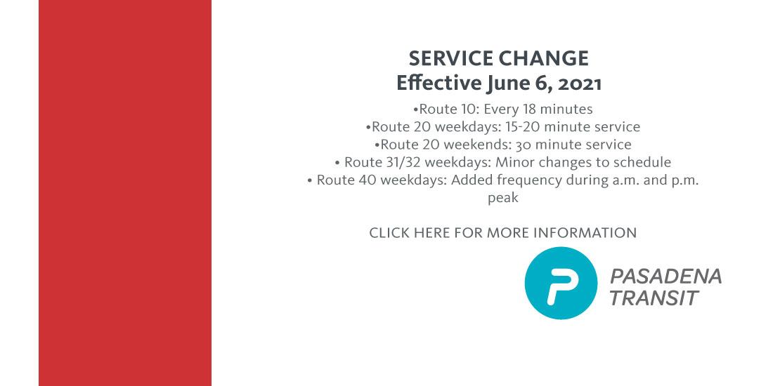 June 6 Service Change