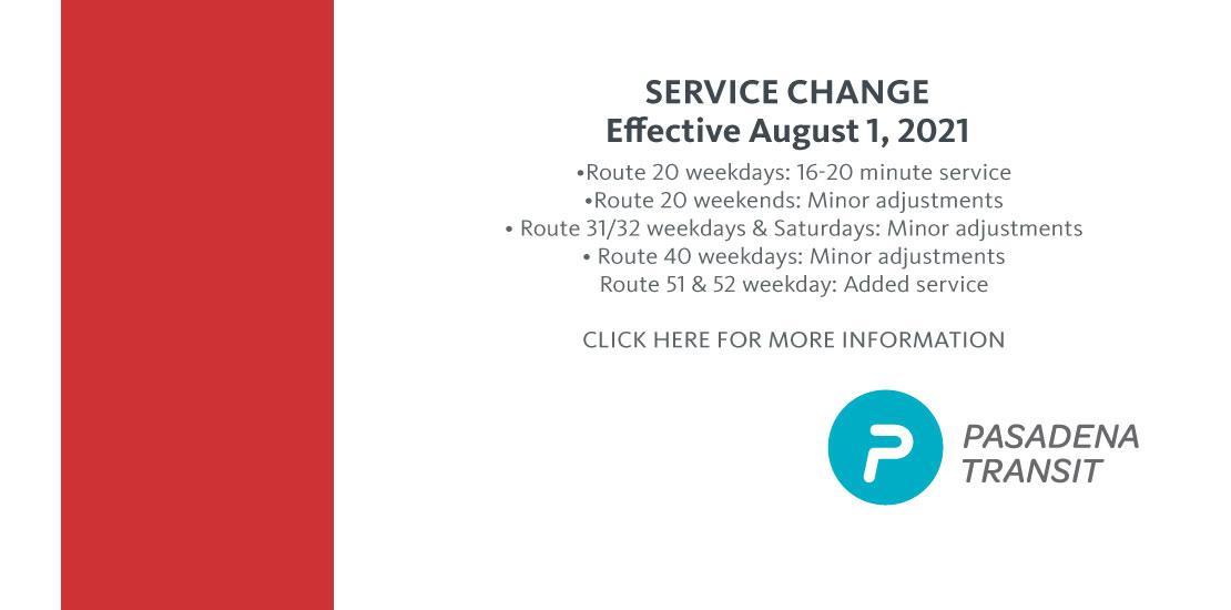 August 1 Schedule Change