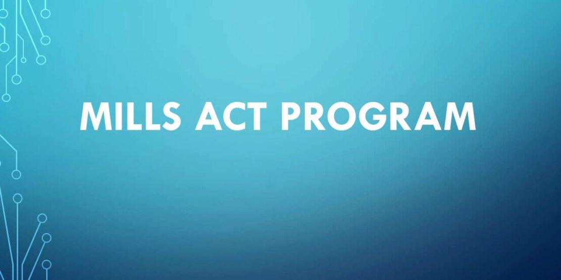 Mills Act Program 2021