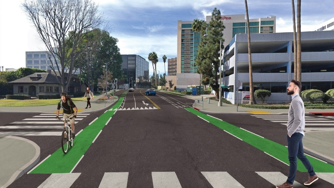 Cordova Street at Oakland Avenue with proposed enhancements