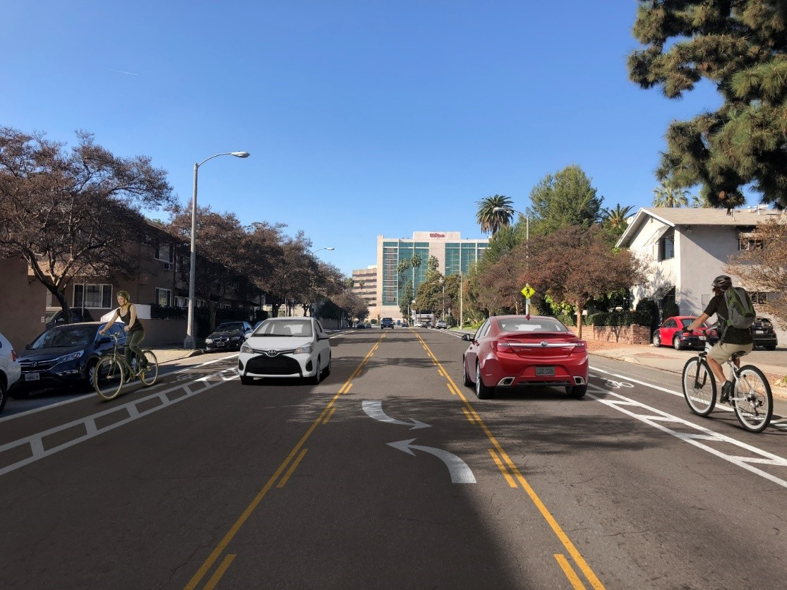Cordova Street between Madison and El Molino with proposed enhancements