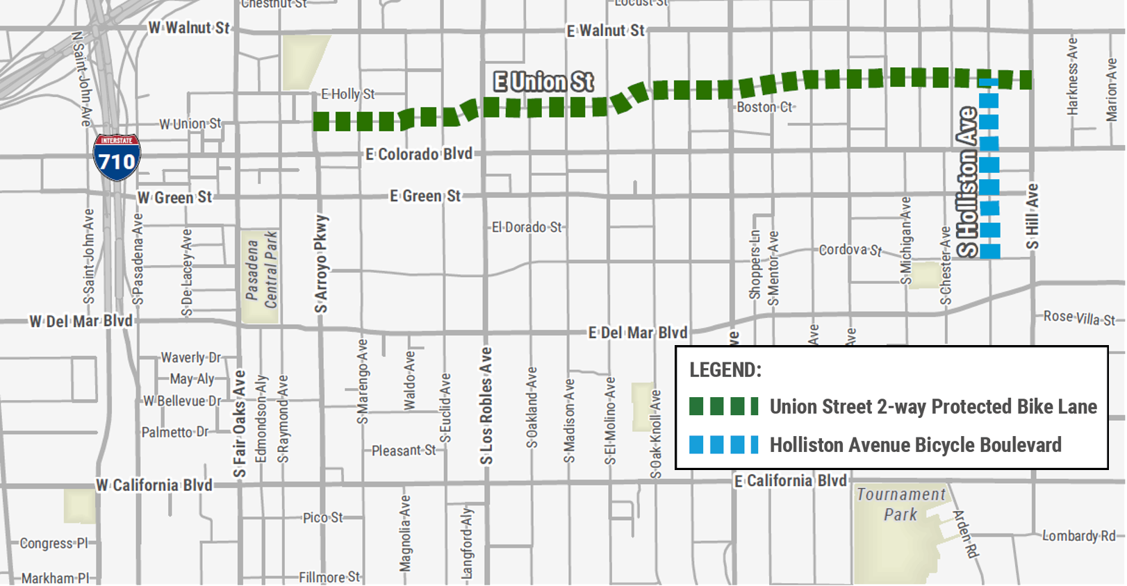 Union Street Protected Bike Lane Project Map