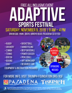 flyer with date, time, location and a list of activities available at the event