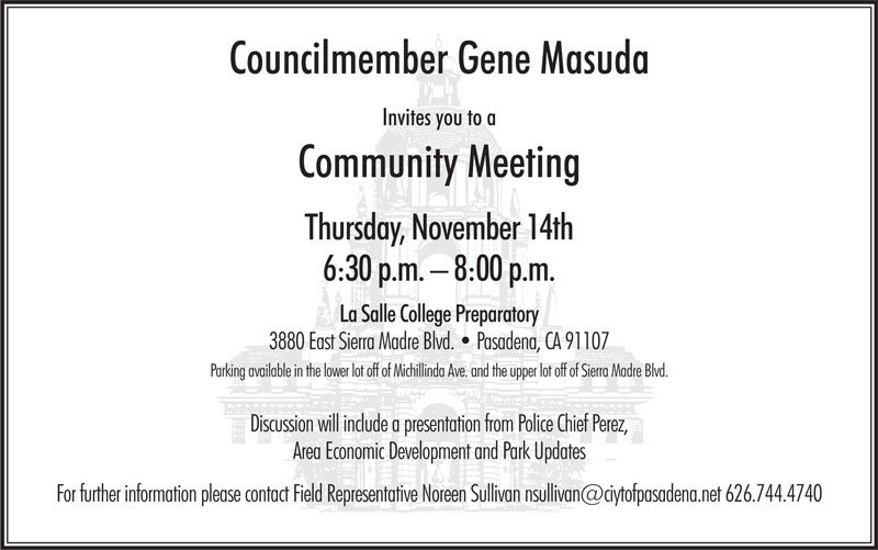 Postcard with date, time and location of community meeting