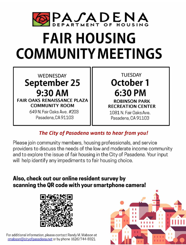 flyer with date, time and locations of community meetings.