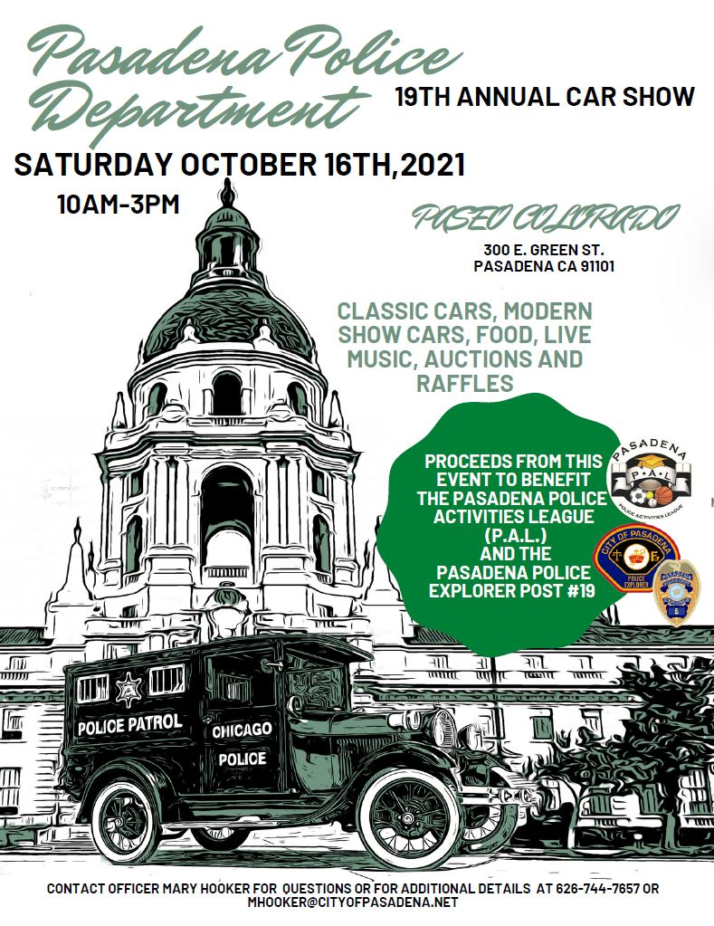 Flyer with date, time and location of event
