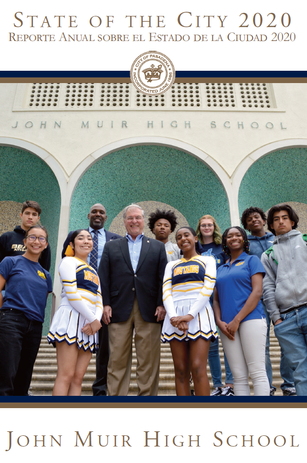 Picture of Mayor and John Muir Students