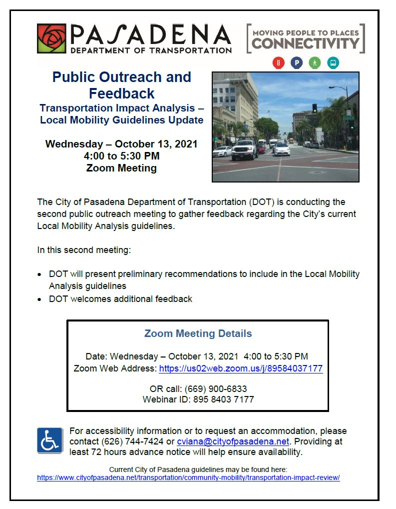 Flyer with date, time and zoom link to meeting