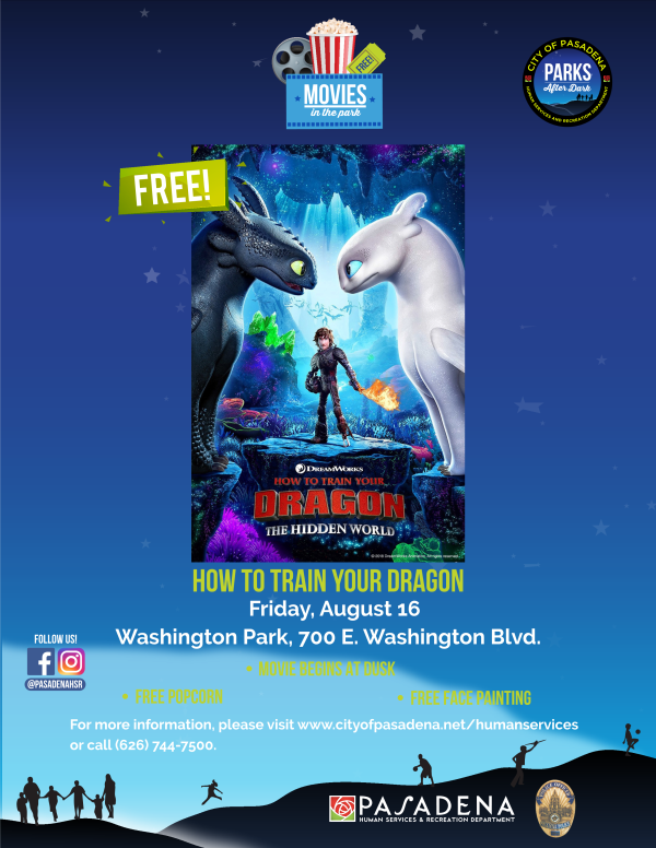 flyer with date and location of movie night