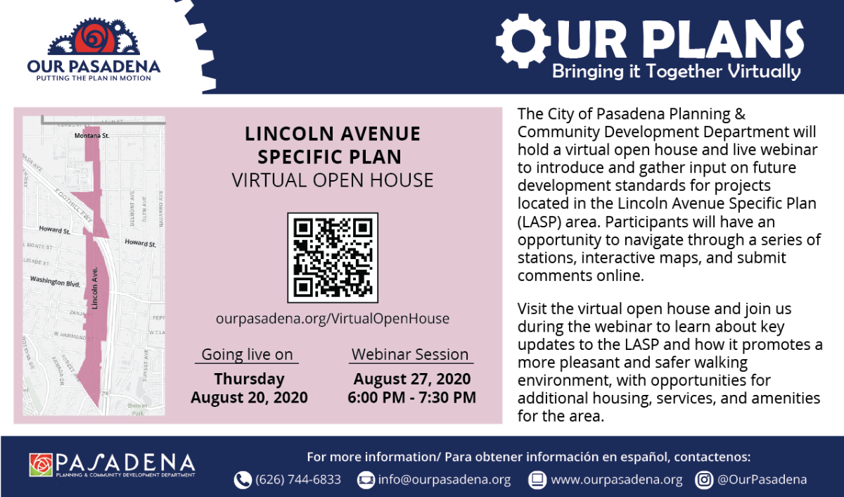 Virtual Open House flyer with date and time of event