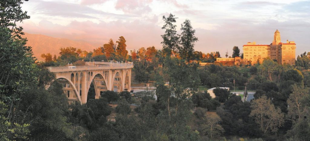 View of the Colorado Street Bridge