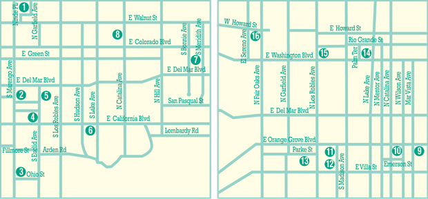 Bungalow Courts Driving Tour Map