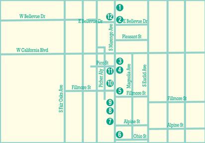 Bungalow Courts Walking Tour Map